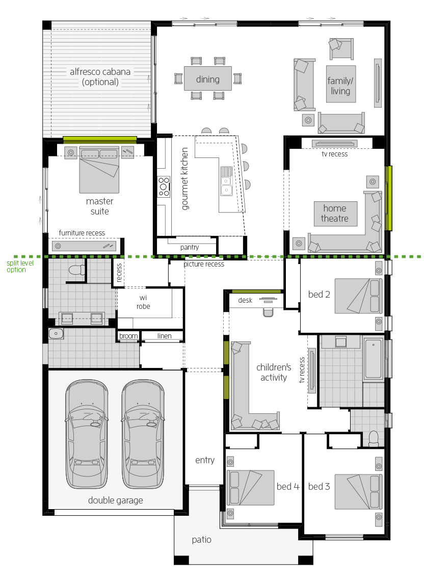 Milano 16 Four floorplan lhs