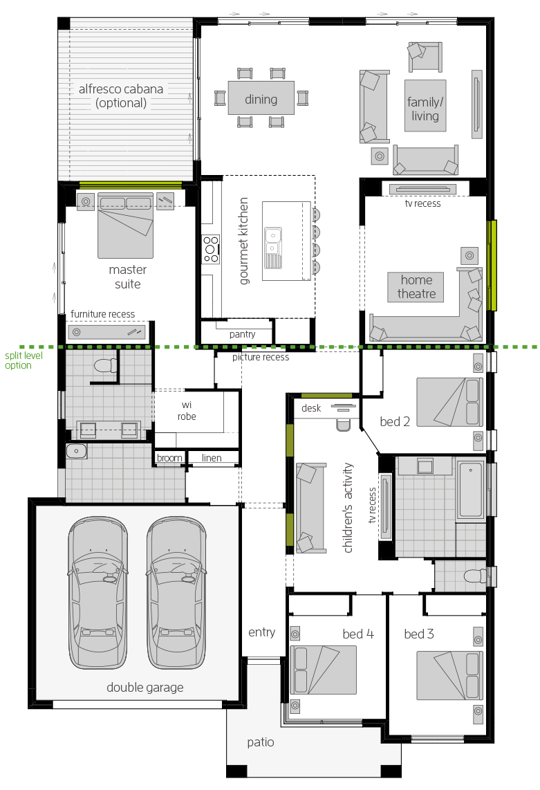 Milano Zero Four floorplan lhs