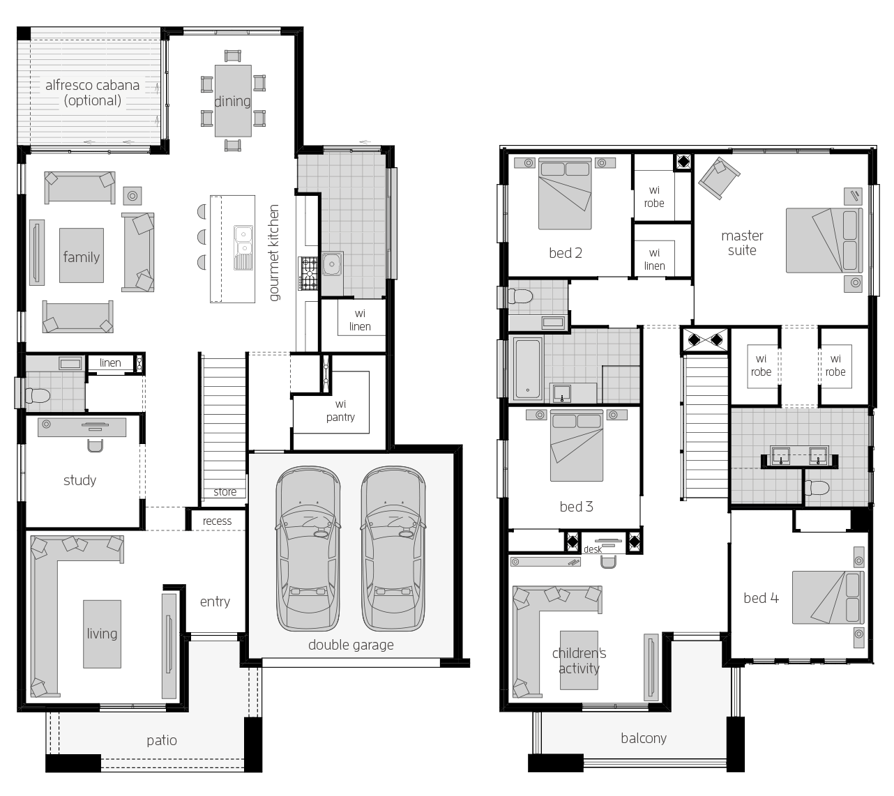 Saxonvale 36 Two- Two Storey Floor Plan- McDonald Jones