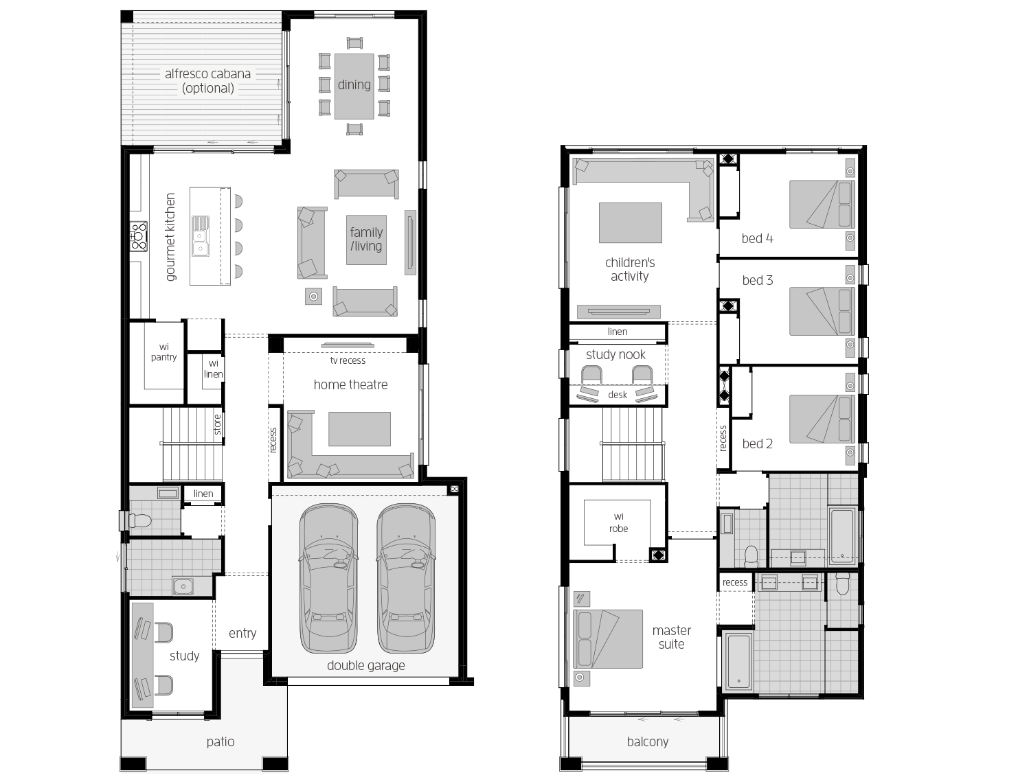 St. Clair 37 One- Two Storey Floor Plan- McDonald Jones