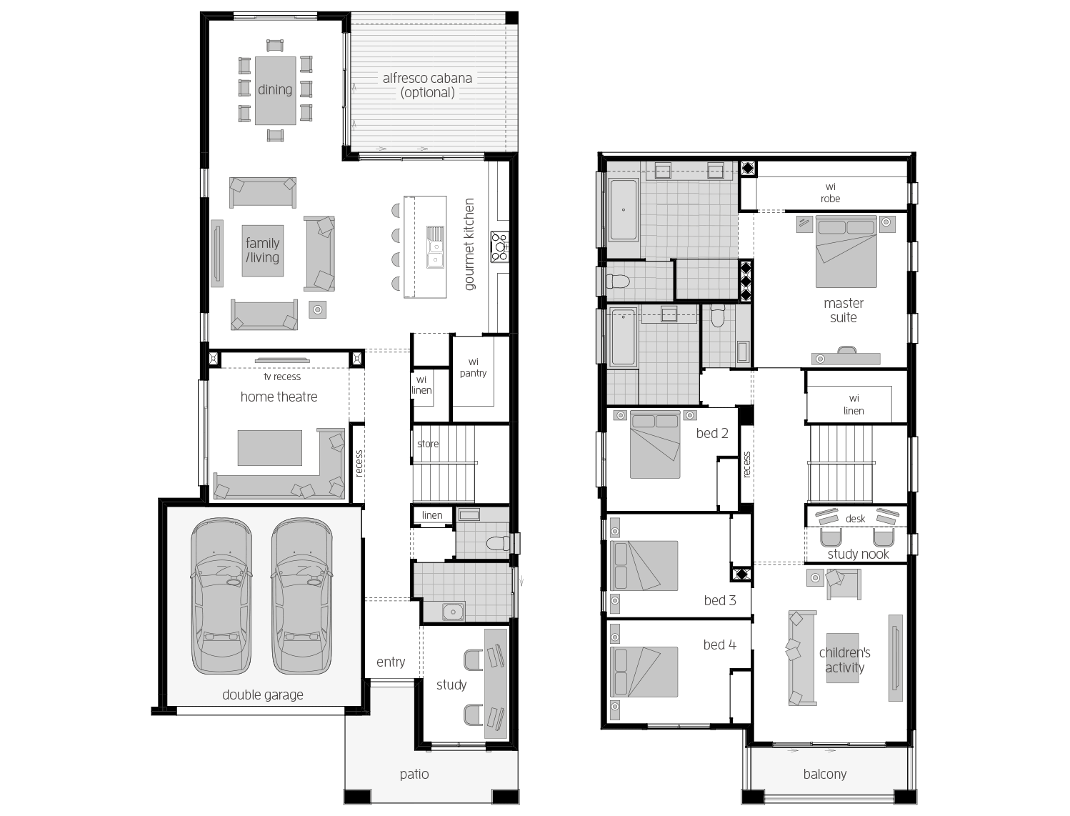St. Clair 37 Two- Two Storey Floor Plan- McDonald Jones