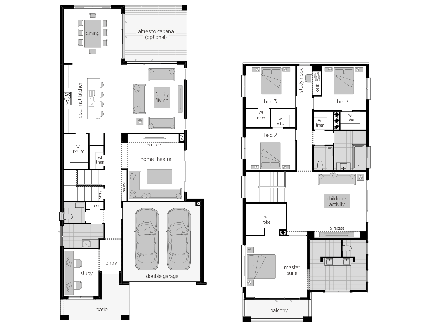 St. Clair 37 Three- Two Storey Floor Plan- McDonald Jones