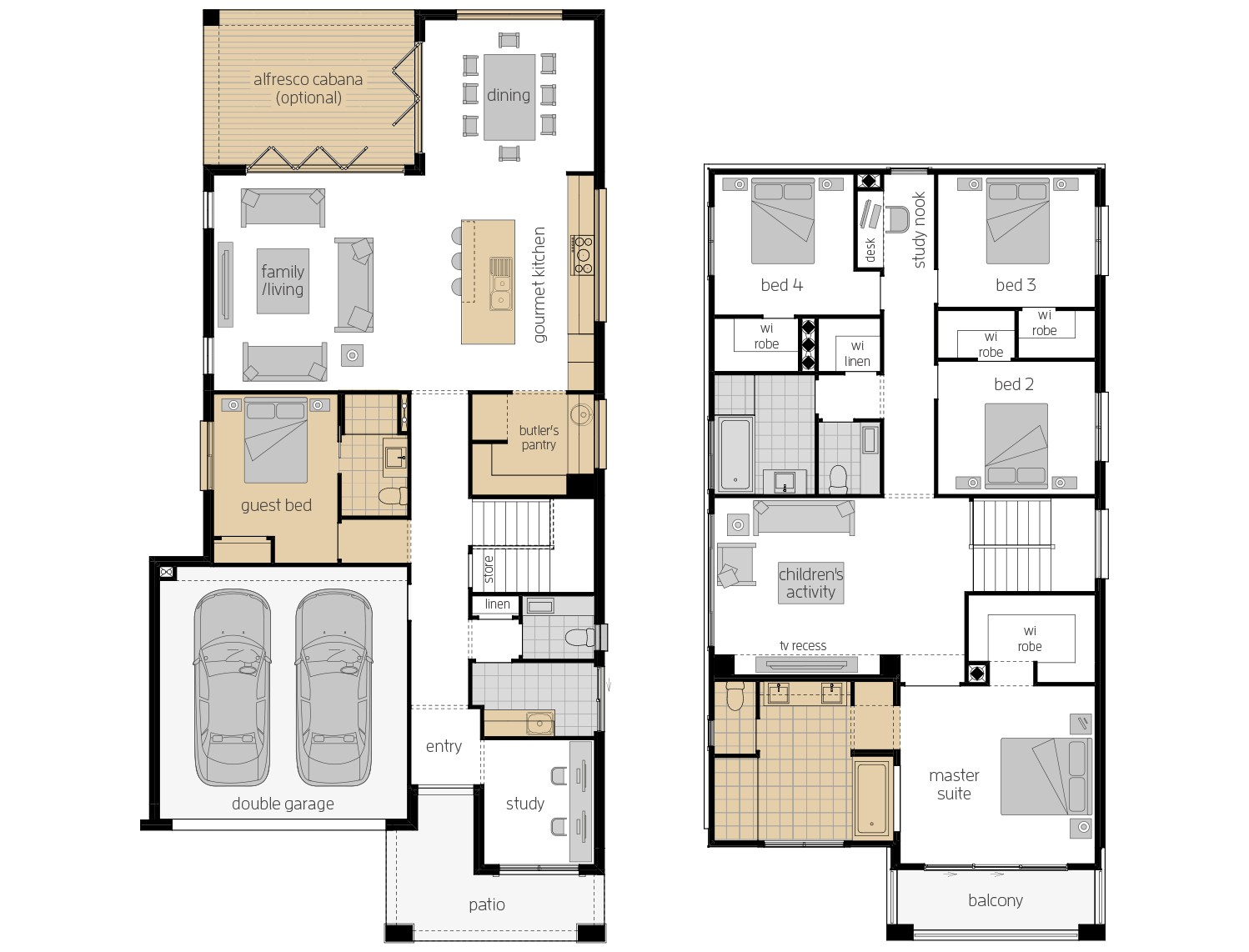 St. Clair 34 Two- Two Storey Upgrade Floor Plan- McDonald Jones
