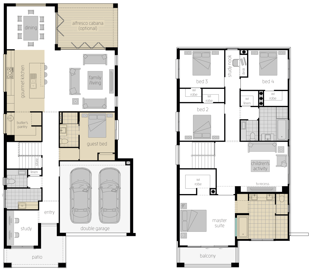 St. Clair 34 Two- Upgrade Two Storey Floor Plan- McDonald Jones