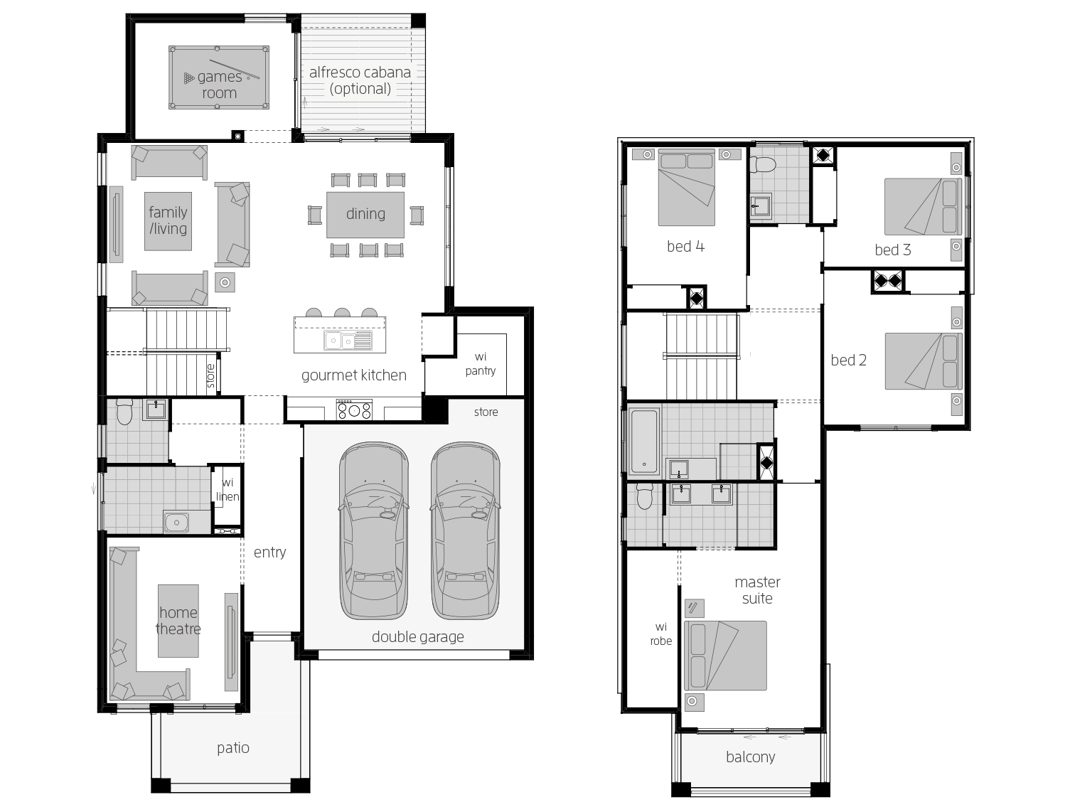 Sevilla 28- Two Storey Floor Plan- McDonald Jones