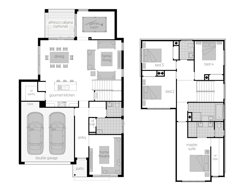 Sevilla 28- Two Storey Floor Plan- McDonald Jones
