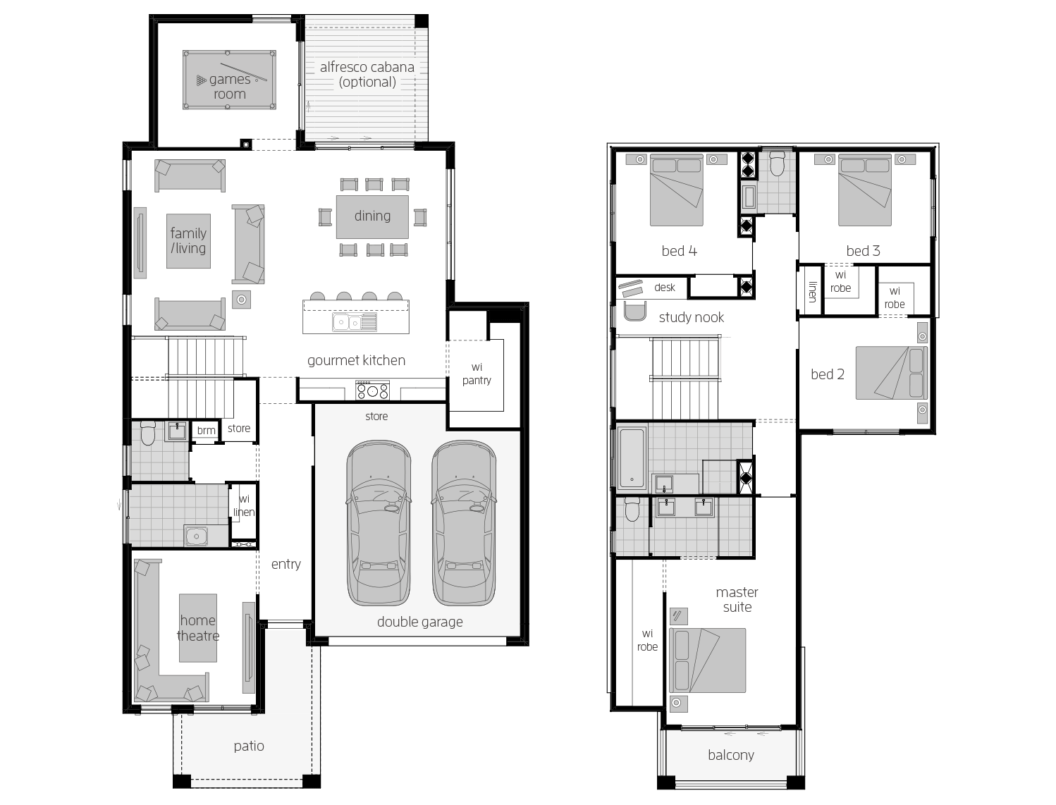 Sevilla 30- Two Storey Floor Plan- McDonald Jones