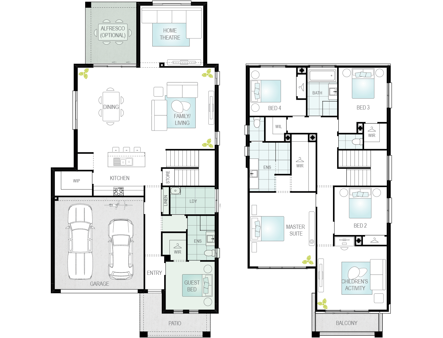 Valiente One- Two Storey Floor Plan- McDonald Jones