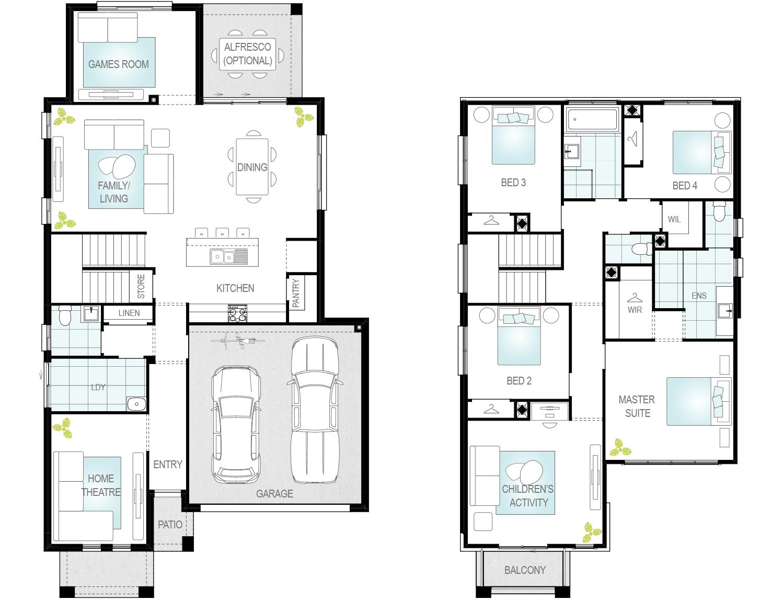 Valiente Two- Two Storey Floor Plan- McDonald Jones