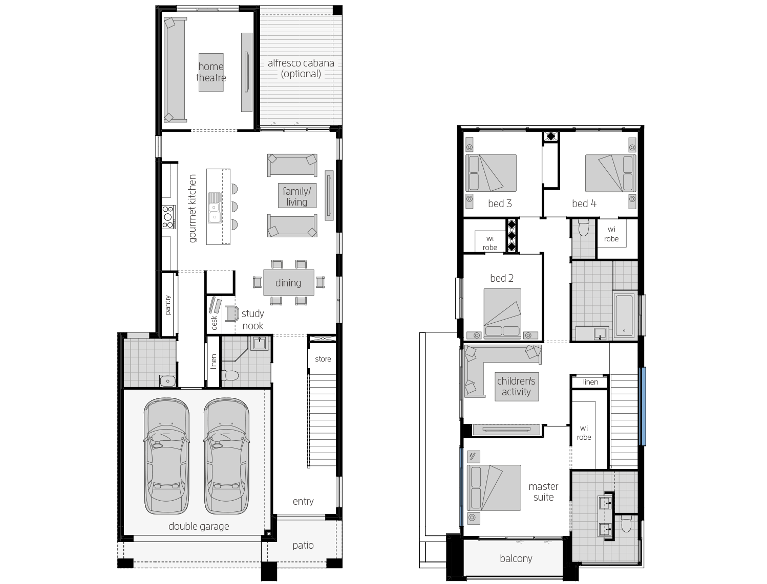 Whistler 30- Two Storey Floor Plan- McDonald Jones