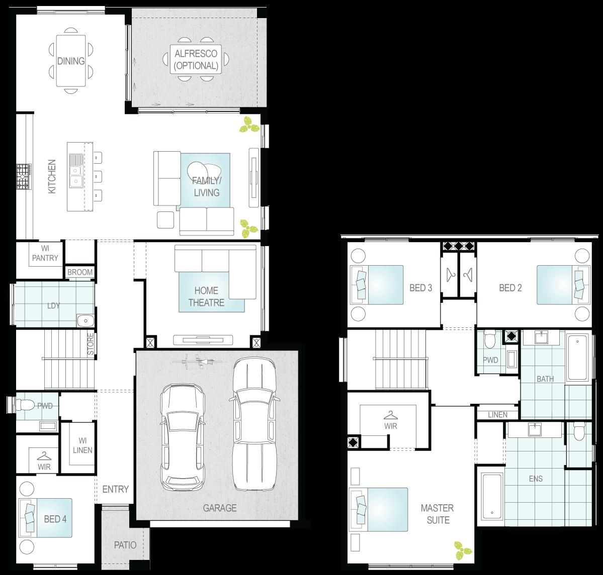 Winton One- Two Storey Floor Plan- McDonald Jones