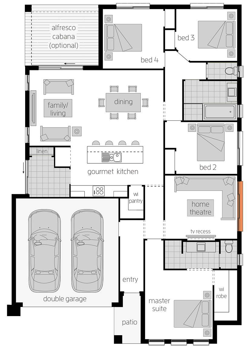 Manhattan One - Single Storey Floor Plan - McDonald Jones