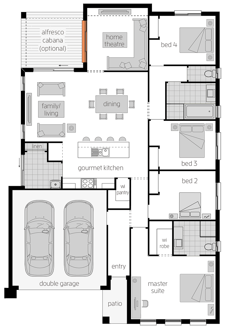 Manhattan Two - Single Storey Floor Plan - McDonald Jones