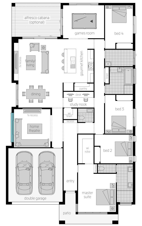 Floor Plan - Botanica - McDonald Jones Homes