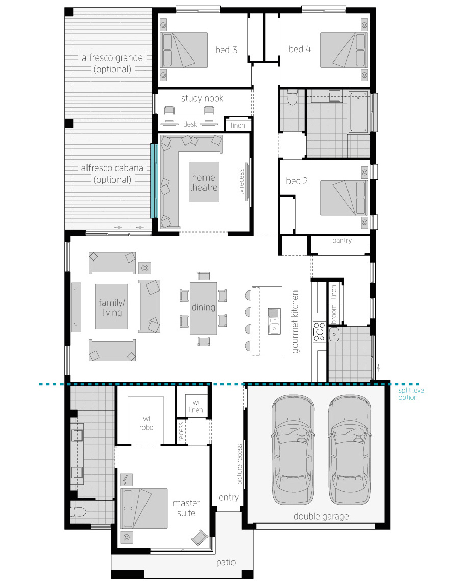 Floor Plan - Broadbeach 15 - McDonald Jones Homes