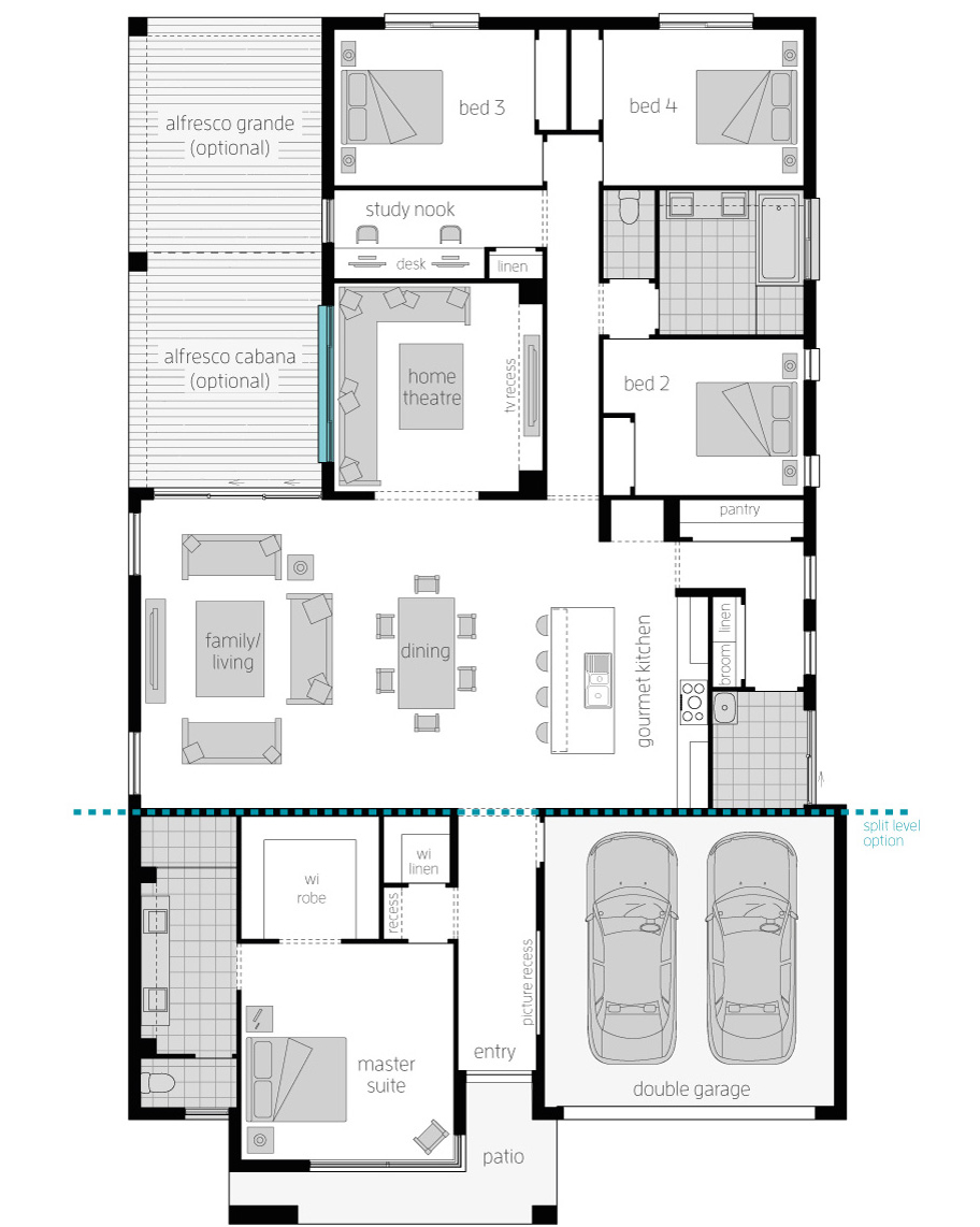 Floor Plan - Broadbeach 16 - McDonald Jones Homes