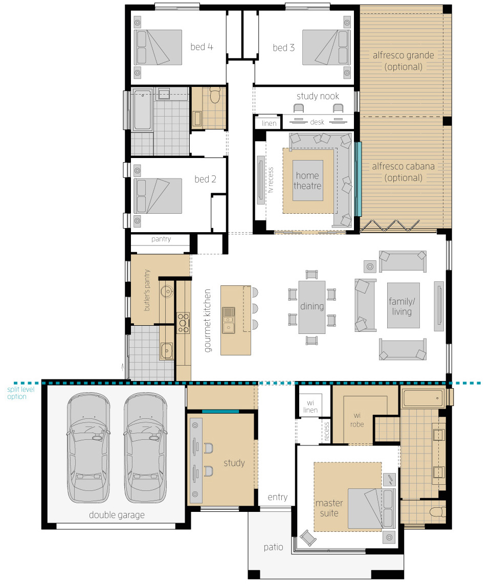 Floor Plan - Broadbeach 16 Updates - McDonald Jones Homes
