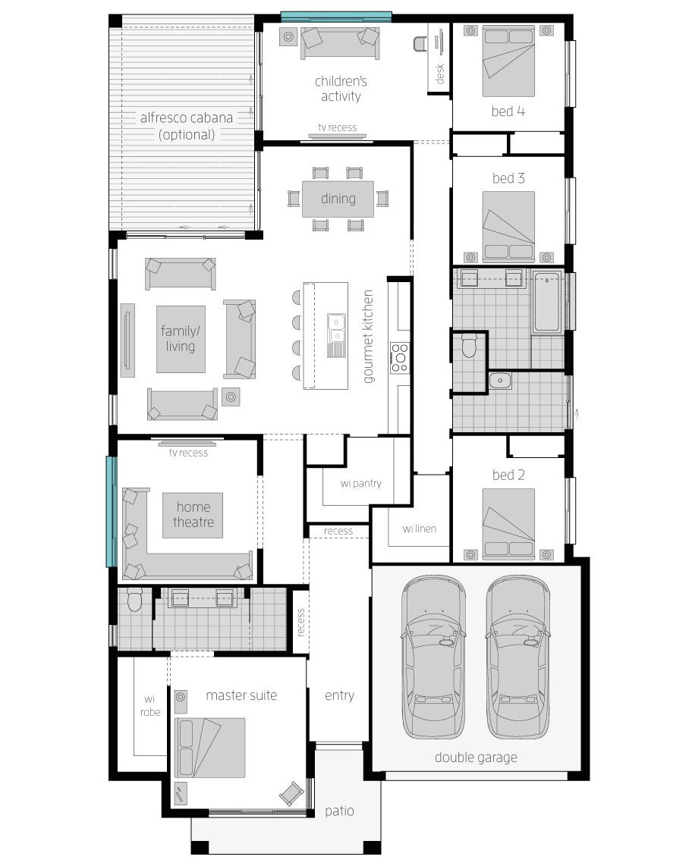 Floor Plan - Coolum One - McDonald Jones Homes