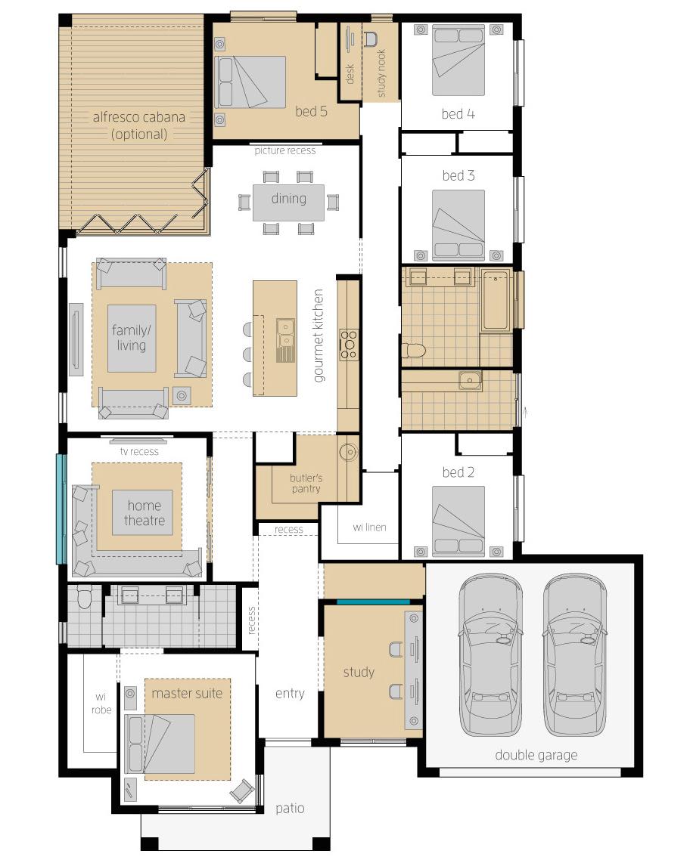 Floor Plan - Coolum One Upgrade - McDonald Jones Homes