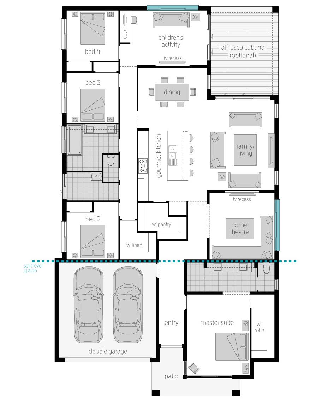 Floor Plan - Coolum Two - McDonald Jones Homes