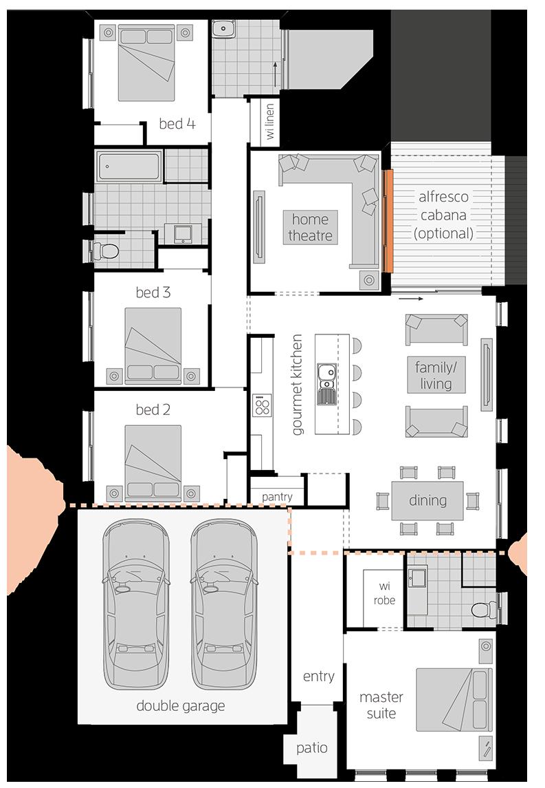 Nova One - Single Storey Floor Plan - McDonald Jones