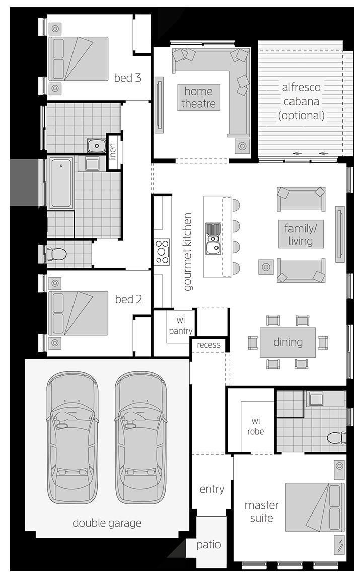 Nova Two - Single Storey Floor Plan - McDonald Jones