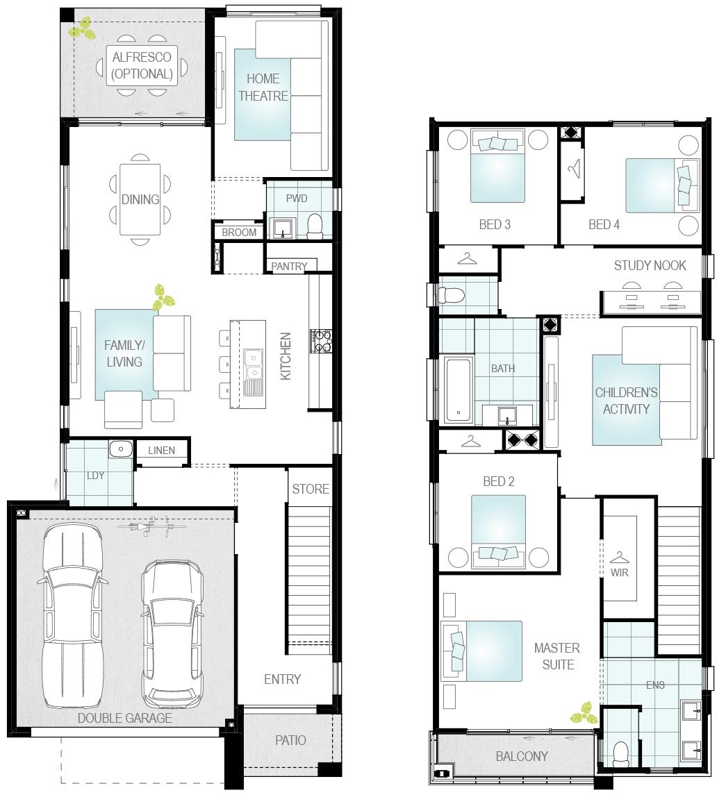 Luka Two- Two Storey Floor Plan- McDonald Jones