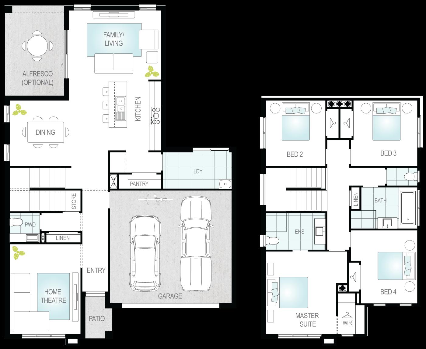 Suzuka One- Two Storey Floor Plan- McDonald Jones