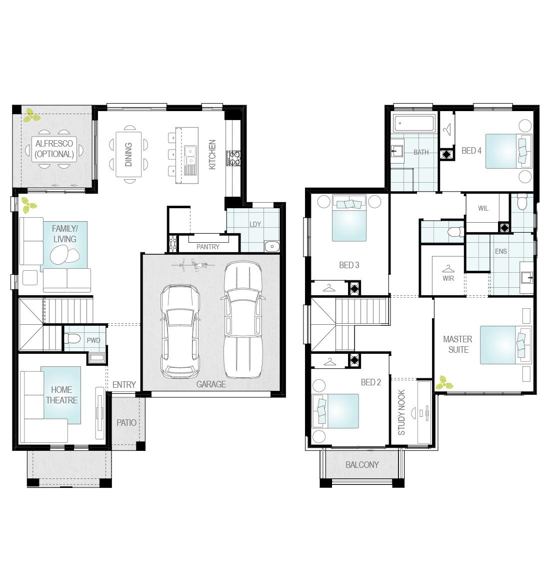 Lurento One - Single Storey Floor Plan - McDonald Jones