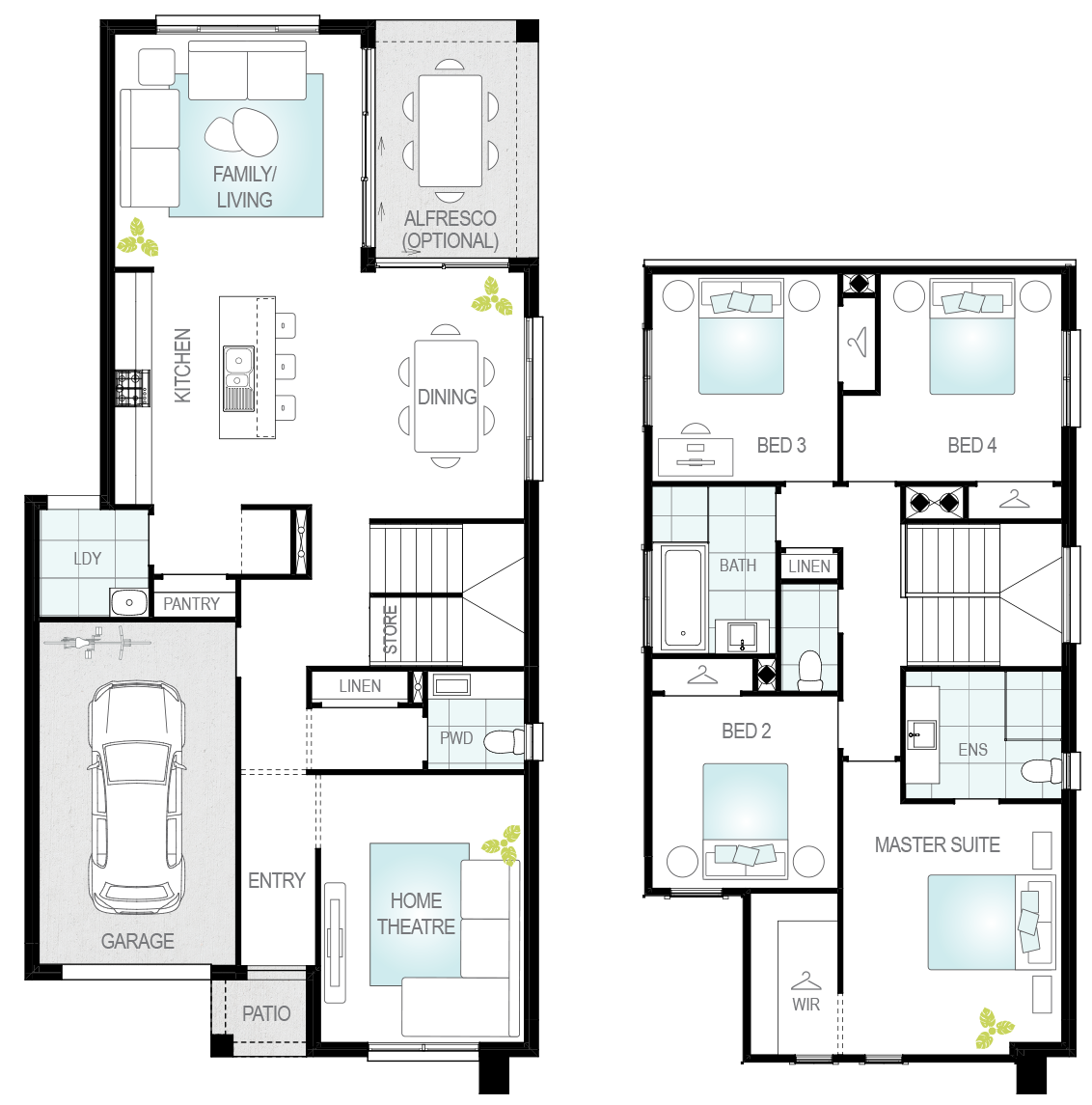 Cresmina- Two Storey Floor Plan- McDonald Jones