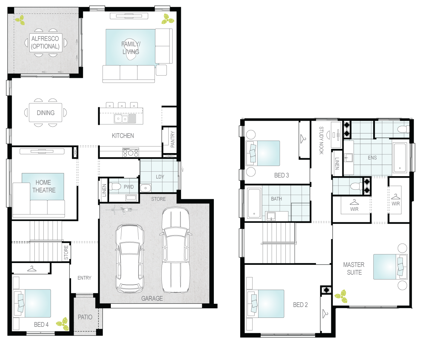 Sandown- Two Storey Floor Plan- McDonald Jones