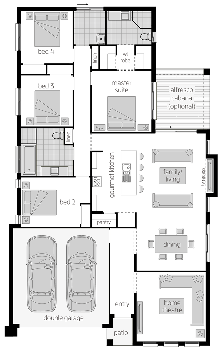 Parkroyal - Single Storey Floor Plan - McDonald Jones