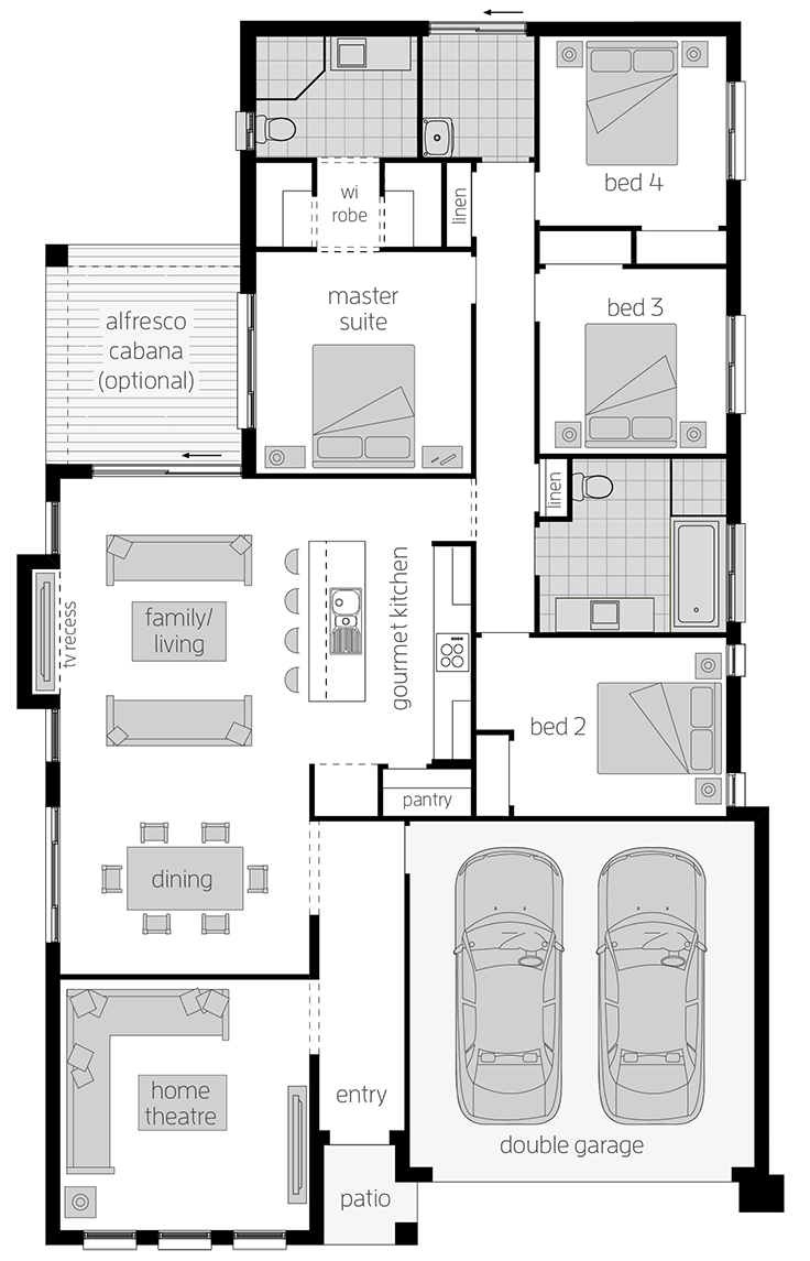 Parkroyal - Single Storey Floor Plan - McDonald Jones