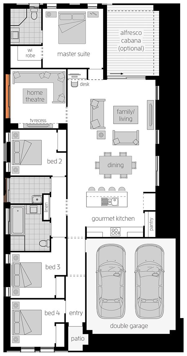 Wentworth - Single Storey Floor Plan - McDonald Jones