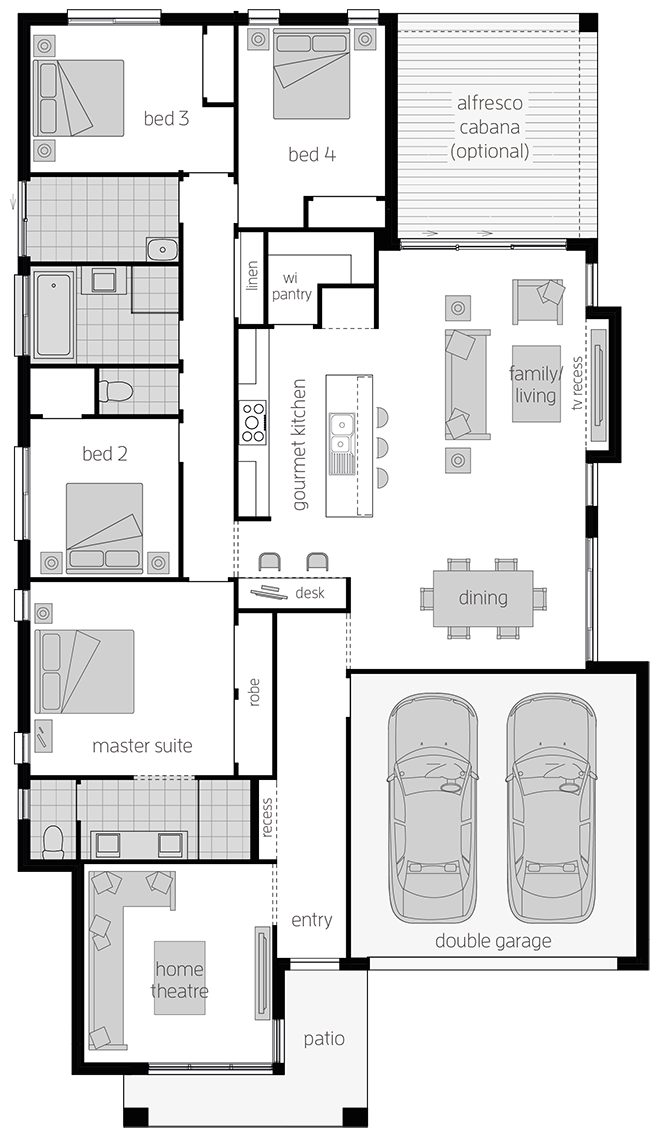 Bexley - Single Storey Floor Plan - McDonald Jones
