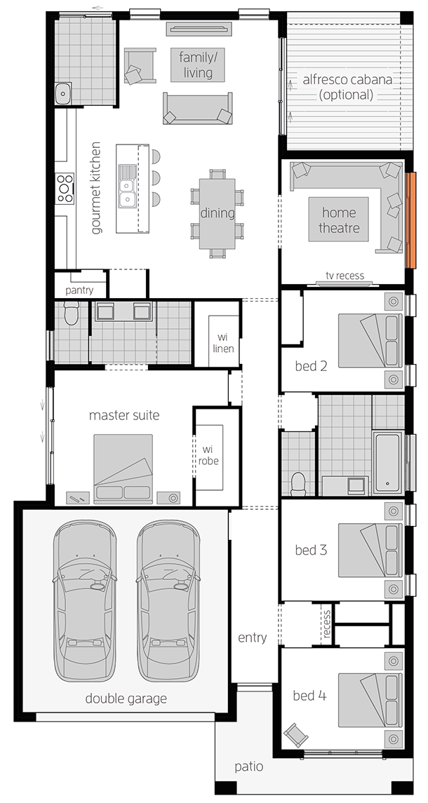 Brighton - Single Storey Floor Plan - McDonald Jones