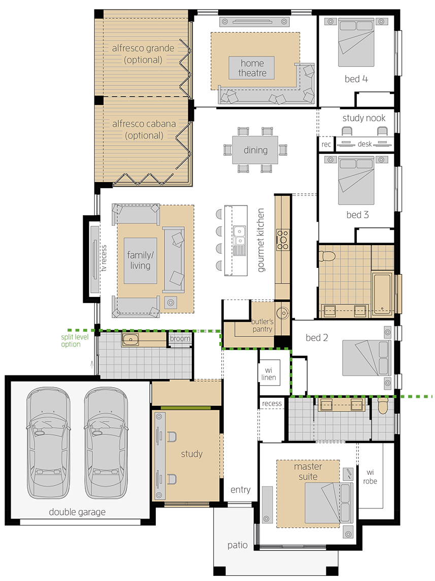 Portsea One upgrade floorplan lhs
