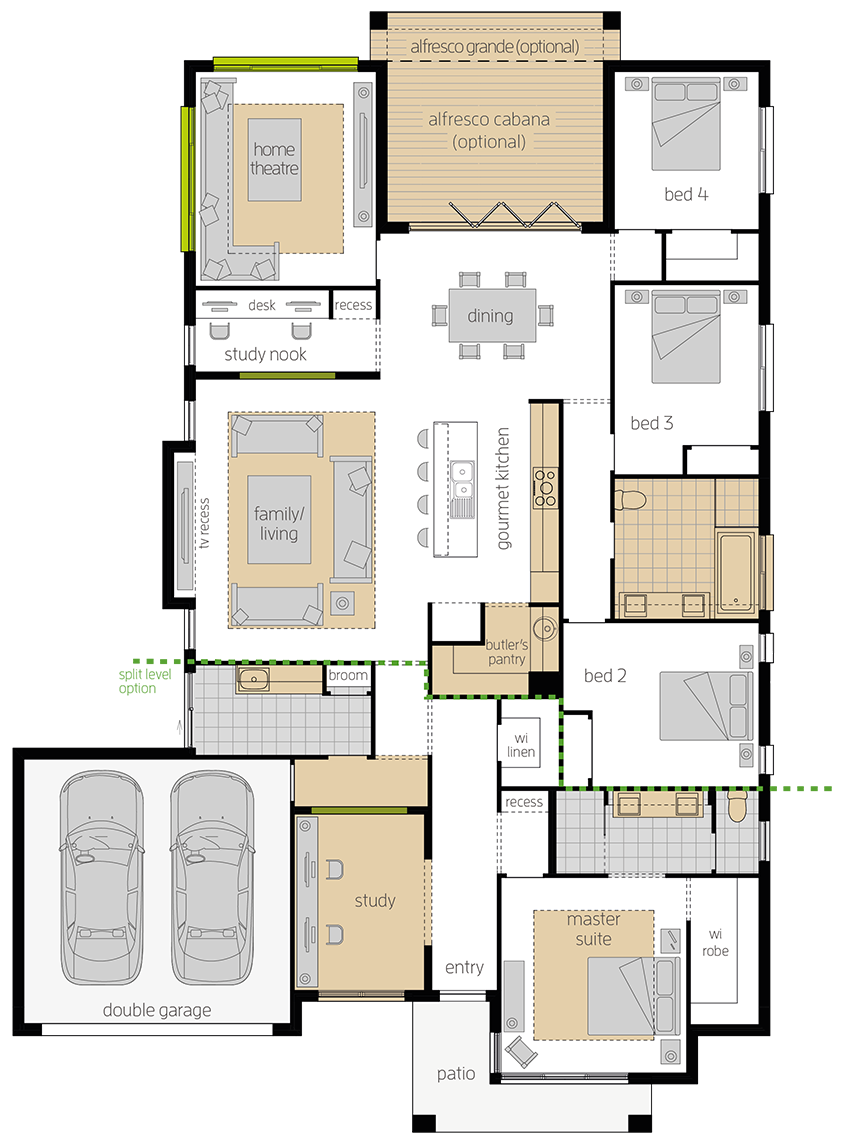 Portsea Two Upgrade floorplan lhs