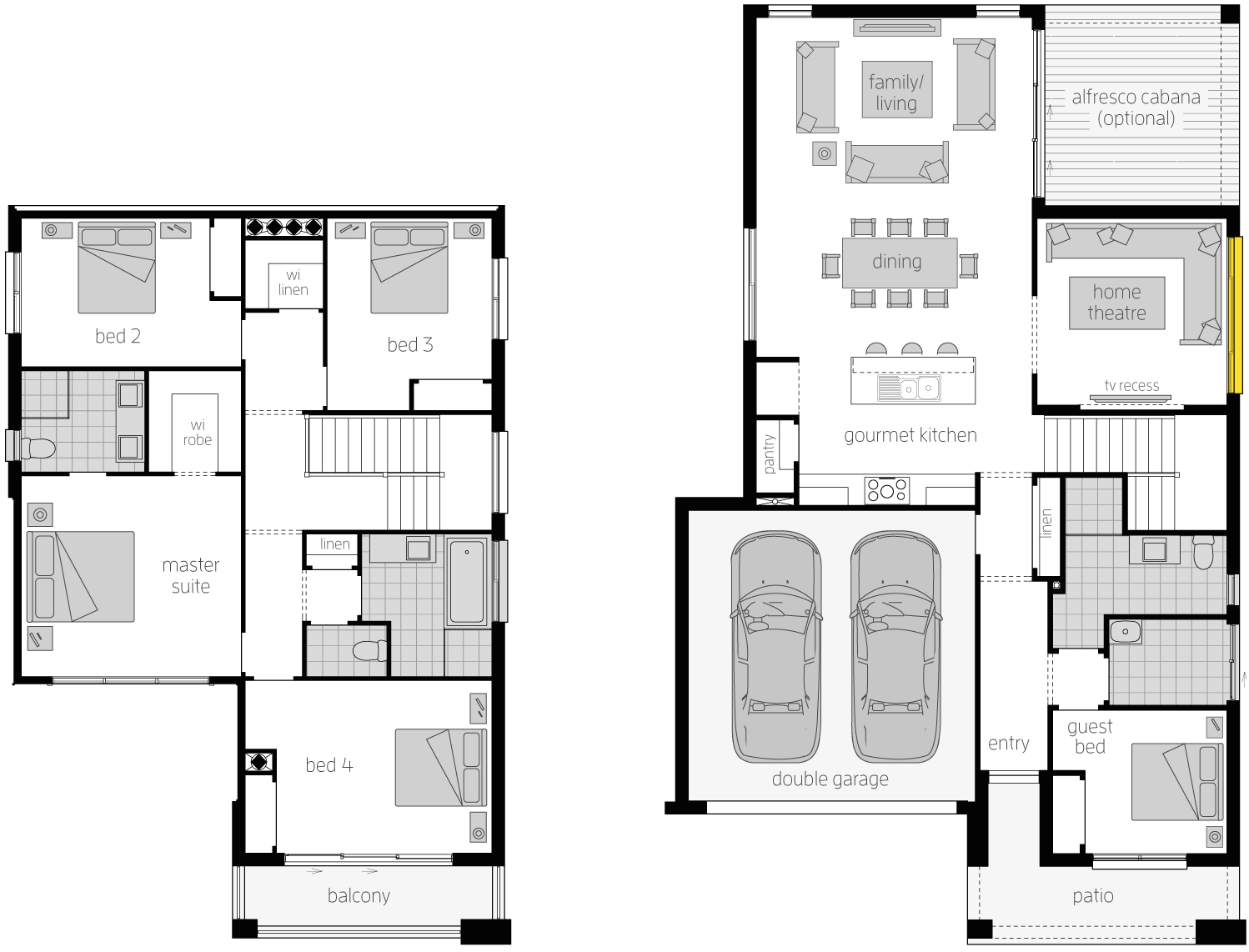 Floor Plan - Tribeca 28 Two Storey House  - McDonald Jones