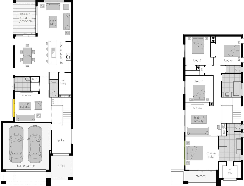 Floor Plan - Tulloch 31 Narrow Block Home- McDonald Jones Homes