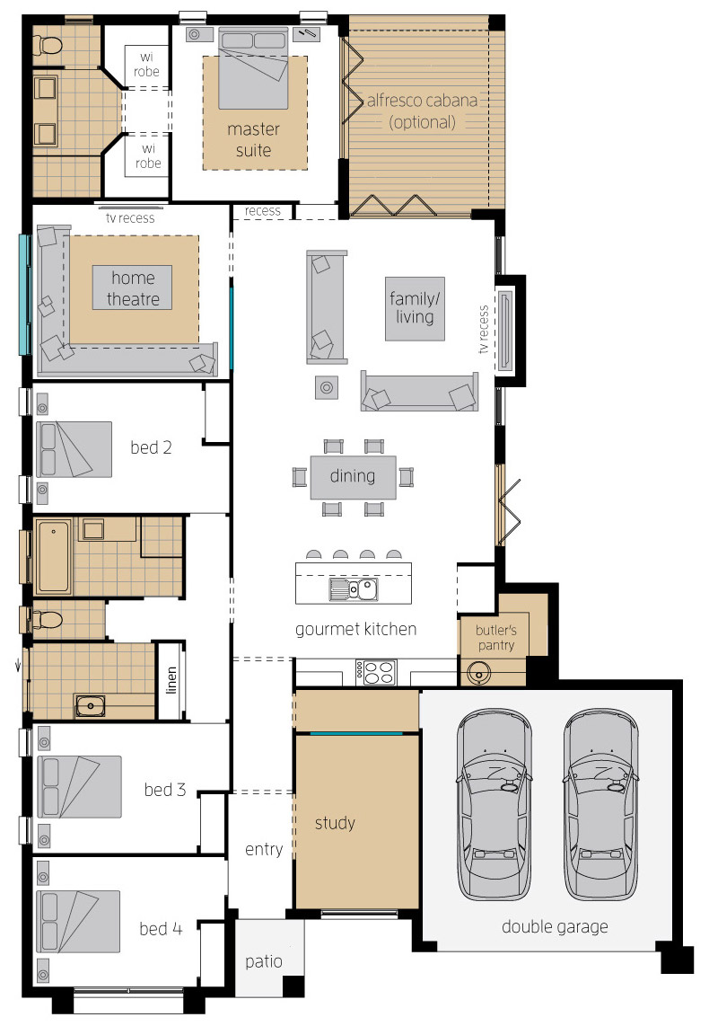 Floor Plan - Bordeaux Executive Elite - McDonald Jones