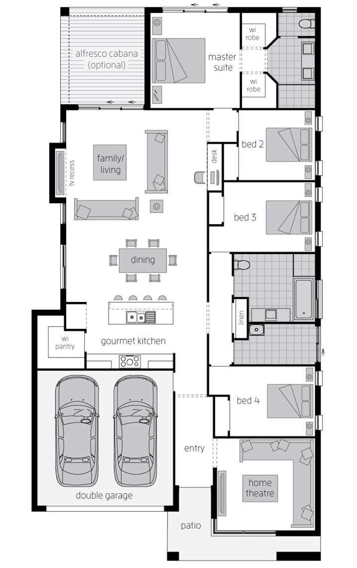 Floor Plan - Bordeaux Urban - McDonald Jones Homes