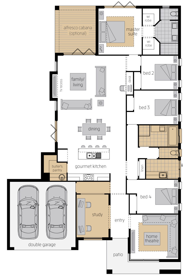 Floor Plan - Bordeaux Urban Elite - McDonald Jones