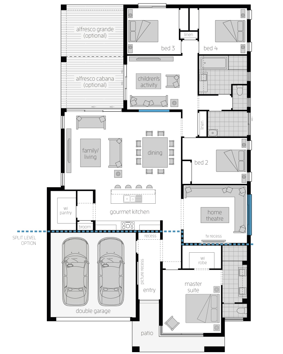 Floor Plan - Capri15 - Luxury Home - McDonald Jones