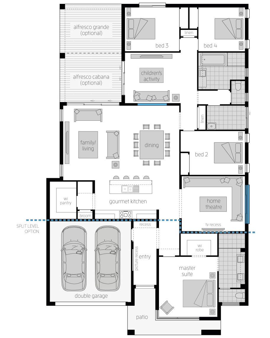 Floor Plan - Capri16 - Luxury Home - McDonald Jones