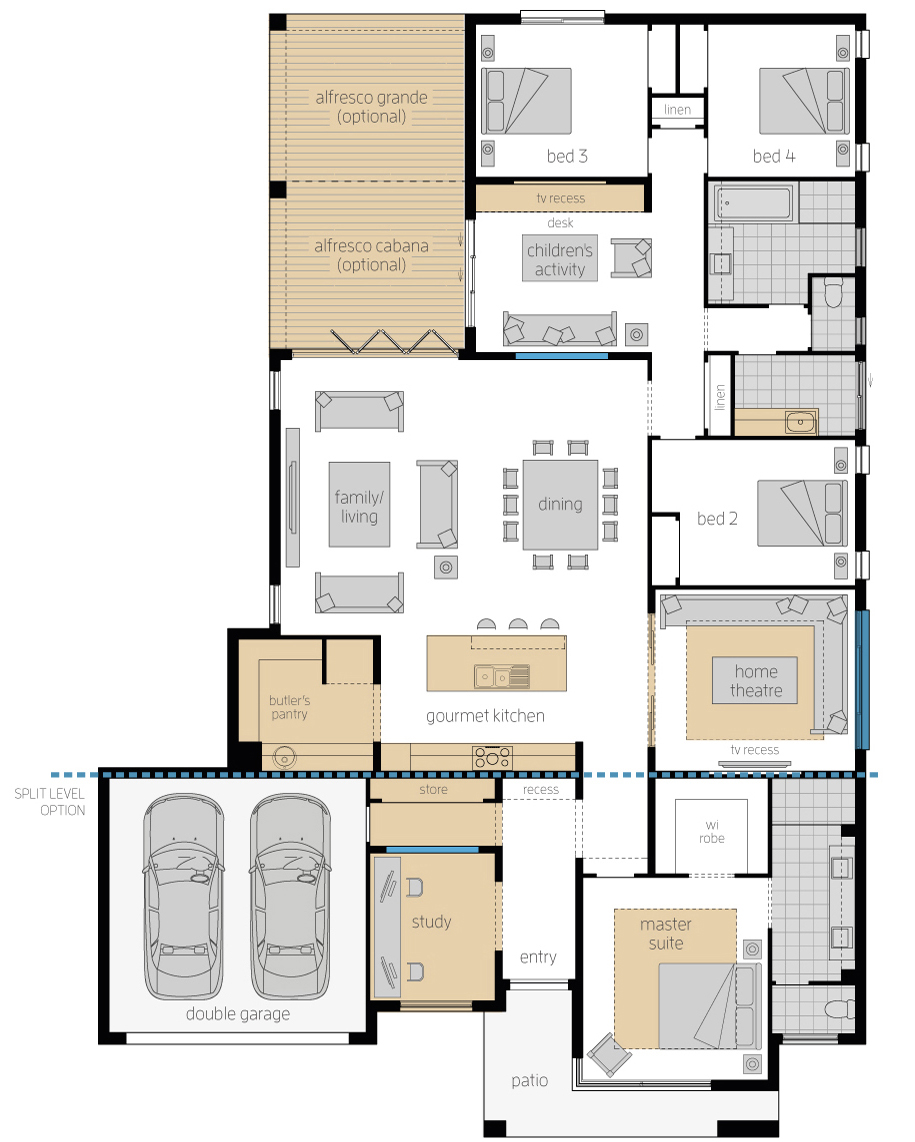 Floor Plan - Capri16 Elite - Upgrades - Luxury Home - McDonald Jones