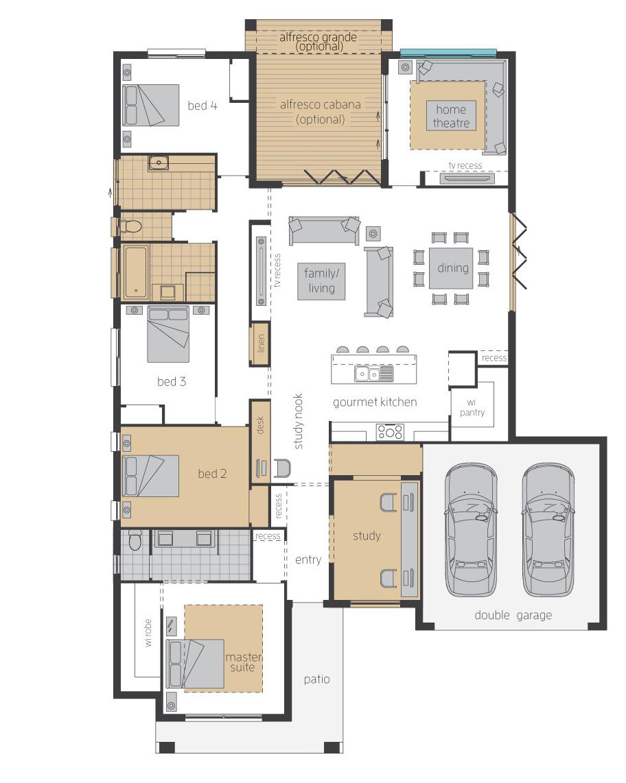 Floor Plan - Essington One - Upgrade - McDonald Jones
