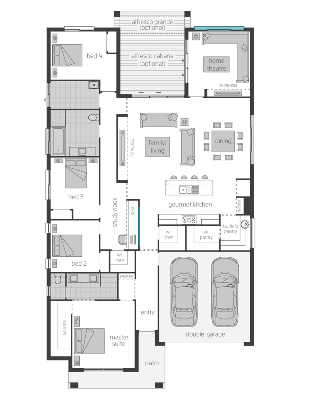 Floor Plan - Essington Two - McDonald Jones