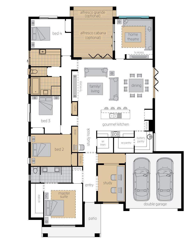 Floor Plan - Essington Two - Upgrade - McDonald Jones