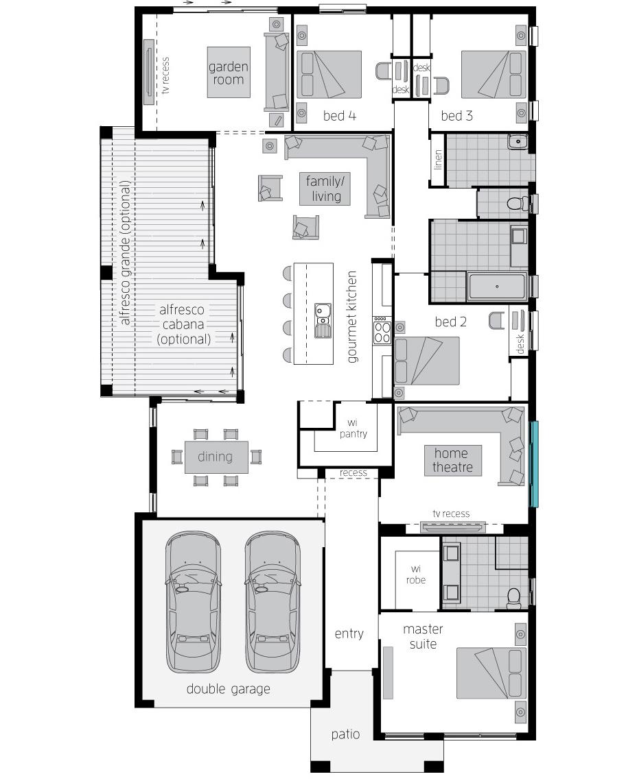 Floor Plan - Garden Retreat One - McDonald Jones
